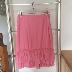 Banana Republic pink silk skirt size 4